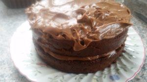 homemade chocolate fudge cake