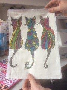 Handmade painting on fabric - deanysdesigns.co.uk