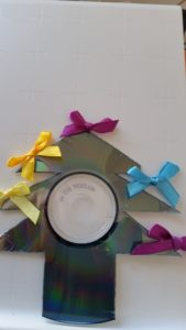 Handmade Cd recycling Christmas tree decorations ~ deanysdesigns.co.uk