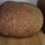handmade knitted pouffe ~ deanysdesigns.co.uk