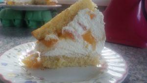 homemade apricot gateau volcano - deanysdesigns.co.uk