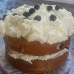 homemade blueberry zucchini & lemon buttercream cake - deanysdesigns.co.uk