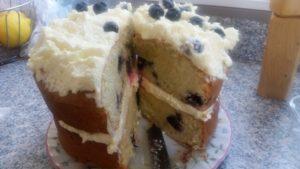 homemade blueberry zucchini & lemon buttercream cake - deanysdesigns.co.uk