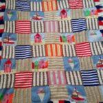 handmade knitted seaside throw - deanysdesigns.co.uk