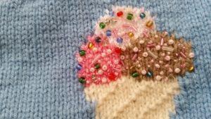 handmade knitted seaside theme throw - deanysdesigns.co.uk