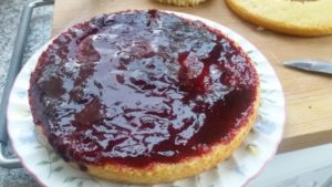Homemade blackberry topper cake - deanysdesigns.co.uk
