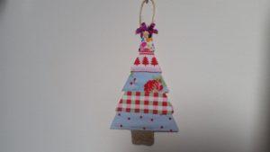 handmade fabric scrap christmas tree decorations - deanysdesigns.co.uk
